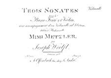 Three Sonatas for Piano Trio, Op.16: Cello part by Joseph Woelfl