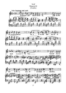 Goethe Songs: Mignon III (So Let Me Seem) by Hugo Wolf