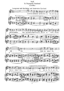 Goethe Songs: Eve of St. Nepomuk's Day by Hugo Wolf