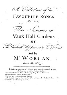 A Collection of the Favourite Songs: A Collection of the Favourite Songs by John Worgan