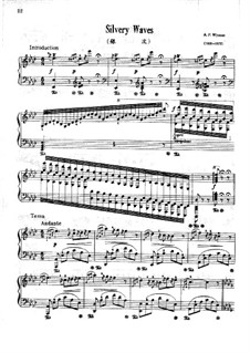 Silvery Waves: For piano by Addison Wyman
