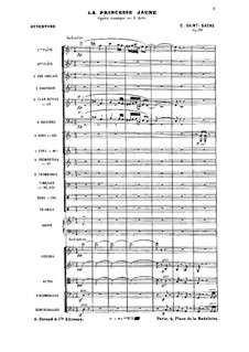 The Yellow Princess, Op.30: Overture by Camille Saint-Saëns