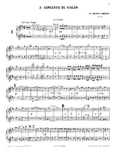 Concerto for Violin and Orchestra No.3 in B Minor, Op.61: Oboes part by Camille Saint-Saëns