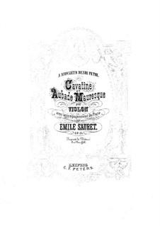 Aubade mauresque for Violin and Piano, Op.25 No.2: Score by Émile Sauret