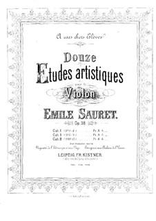 Twelve Artistic Etudes for Violin, Op.38: No.10-12 by Émile Sauret