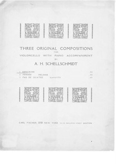 Berceuse for Cello and Piano: Berceuse for Cello and Piano by A.H. Schellschmidt