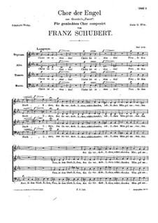 Choir of Angels, D.440: Choir of Angels by Franz Schubert