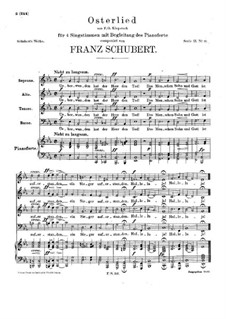 Osterlied (Easter Song), D.168a: Osterlied (Easter Song) by Franz Schubert