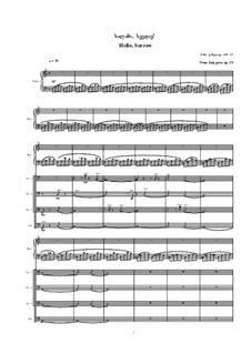Hello, Sorrow!, Op.25: Hello, Sorrow! by Nino Janjgava