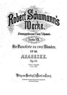 Arabesque in C Major, Op.18: For piano by Robert Schumann