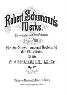 Woman's Love and Life, Op.42: Complete set by Robert Schumann