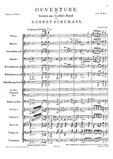Scenes from Goethe's Faust: Overture by Robert Schumann