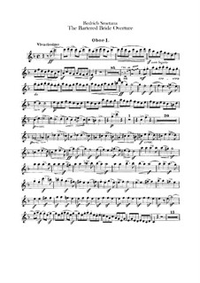 Complete Opera: Overture – oboes parts by Bedřich Smetana
