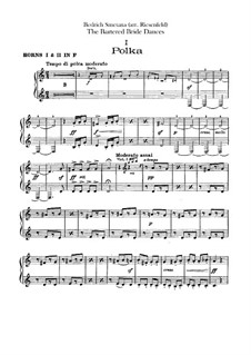 Three Dances: French horns parts by Bedřich Smetana