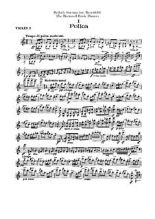 Three Dances: Violins I parts by Bedřich Smetana