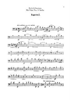 Šarka, T.113: Bassoons parts by Bedřich Smetana