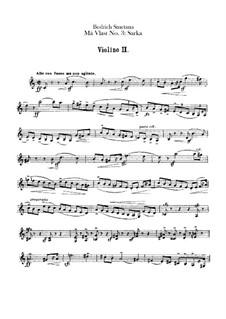 Šarka, T.113: Violin II part by Bedřich Smetana