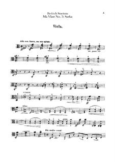 Šarka, T.113: Viola part by Bedřich Smetana