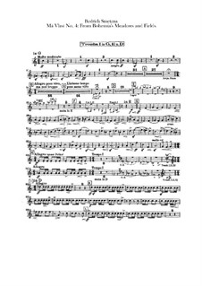 Z českých luhů a hájů (From Bohemia's Woods and Fields), T.114: Trumpets parts by Bedřich Smetana
