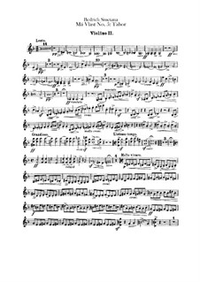 Tábor, T.120: Violin II part by Bedřich Smetana