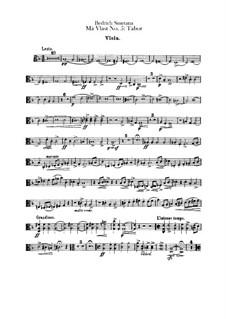Tábor, T.120: Viola part by Bedřich Smetana