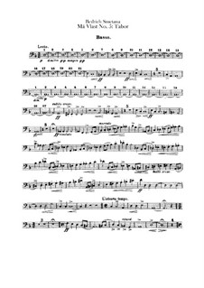 Tábor, T.120: Double bass part by Bedřich Smetana
