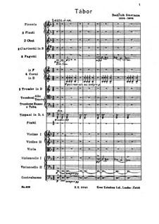Tábor, T.120: Full score by Bedřich Smetana