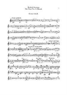 Blanik, T.121: French horns parts by Bedřich Smetana