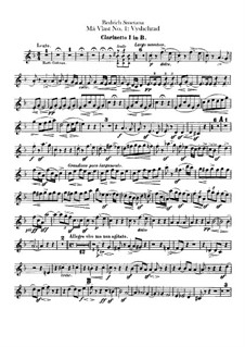 Vyšehrad, T.110: Clarinets parts by Bedřich Smetana