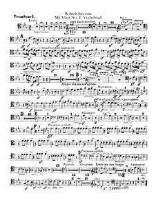 Vyšehrad, T.110: Trombones and tuba parts by Bedřich Smetana