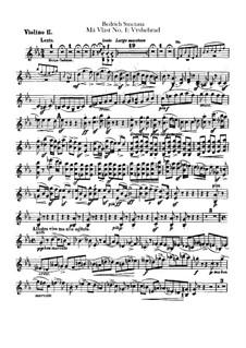 Vyšehrad, T.110: Violin II part by Bedřich Smetana