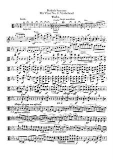 Vyšehrad, T.110: Viola part by Bedřich Smetana