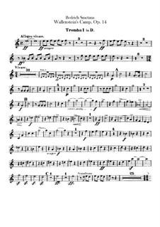 Valdštýnův tábor (Wallenstein's Camp), B.111 T.79 Op.14: Trumpets parts by Bedřich Smetana
