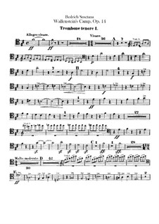 Valdštýnův tábor (Wallenstein's Camp), B.111 T.79 Op.14: Trombones and tuba parts by Bedřich Smetana