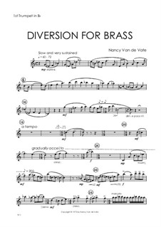 Diversion for Brass: Parts by Nancy Van de Vate