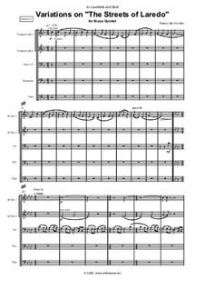 Brass Quintet No.2: Variations on 'The Streets of Laredo': Brass Quintet No.2: Variations on 'The Streets of Laredo' by Nancy Van de Vate