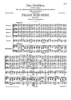 Das Dörfchen (The Village), D.598 Op.11 No.1: Das Dörfchen (The Village) by Franz Schubert