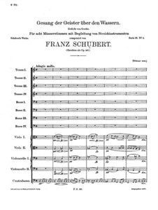 Song of the Spirits over the Waters, D.714 Op.167: Song of the Spirits over the Waters by Franz Schubert