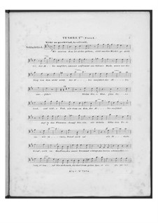 Battle Song for Double Male Choir and Piano (or Harmonium), D.912 Op.151: Tenor I part (Choir I) by Franz Schubert