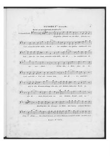Battle Song for Double Male Choir and Piano (or Harmonium), D.912 Op.151: Tenor I part (Choir II) by Franz Schubert