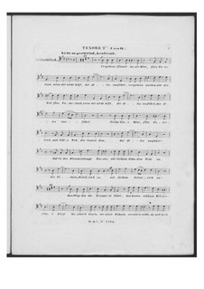 Battle Song for Double Male Choir and Piano (or Harmonium), D.912 Op.151: Tenor II part (Choir II) by Franz Schubert