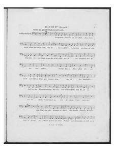 Battle Song for Double Male Choir and Piano (or Harmonium), D.912 Op.151: Bass II part (Choir II) by Franz Schubert