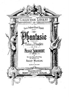 Fantasia for Violin and Piano in C Major, D.934 Op.159: Score by Franz Schubert