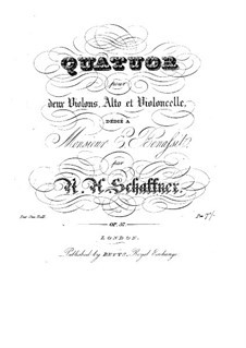 String Quartet in C Major, Op.57: String Quartet in C Major by Nicolaus Albrecht Schaffner