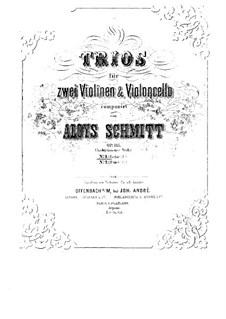 String Trios, Op.135: Trio No.1 in E Flat Major by Aloys Schmitt