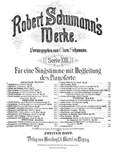 Twelve Poems for Voice and Piano, Op.37: Complete set by Robert Schumann