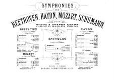Symphony No.3 in E Flat Major 'Rhenish', Op.97: Version for piano four hands by Robert Schumann