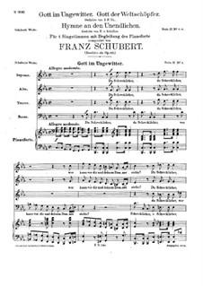 Gott im Ungewitter, D.985 Op.112 No.1: Gott im Ungewitter by Franz Schubert