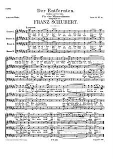 Der Entfernten, D.331: Der Entfernten by Franz Schubert