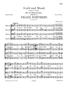 Grab und Mond (Grave and Moon), D.893: Grab und Mond (Grave and Moon) by Franz Schubert